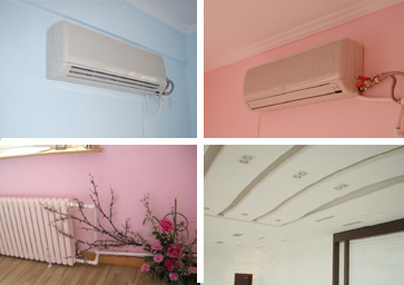 超低温空气源热泵供暖制冷末端设备